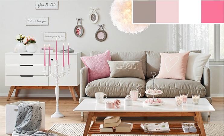 wohnzimmer rosa braun home design inspiration