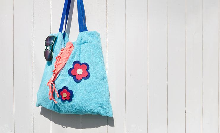 Strandtasche aus Handtuch